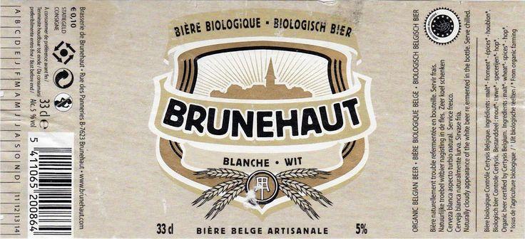 Brunehaut Bio Blanche, Trigo Belga 5.0% ABV (Brasserie de Brunehaut, Bélgica) #label