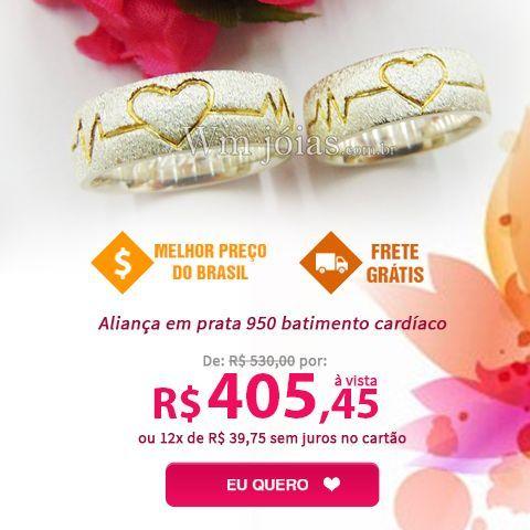 WM Joias - Melhor opção para comprar aliança de casamento, aliança de noivado, aliança ouro 18K, mais de 1.000 modelos de alianças, confira.