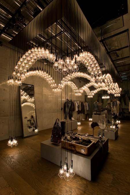 Diesel Denim Shop Gallery // Ayako Maruta's light installation in Aoyama, Tokyo