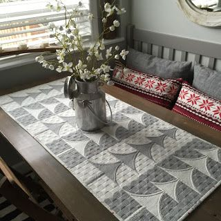 = free pattern =  Mini Trees Table Runner by Sew Kind of Wonderful, featured at Quilt Inspiration