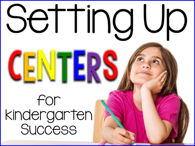 Sharing Kindergarten: Setting up Centers for Success