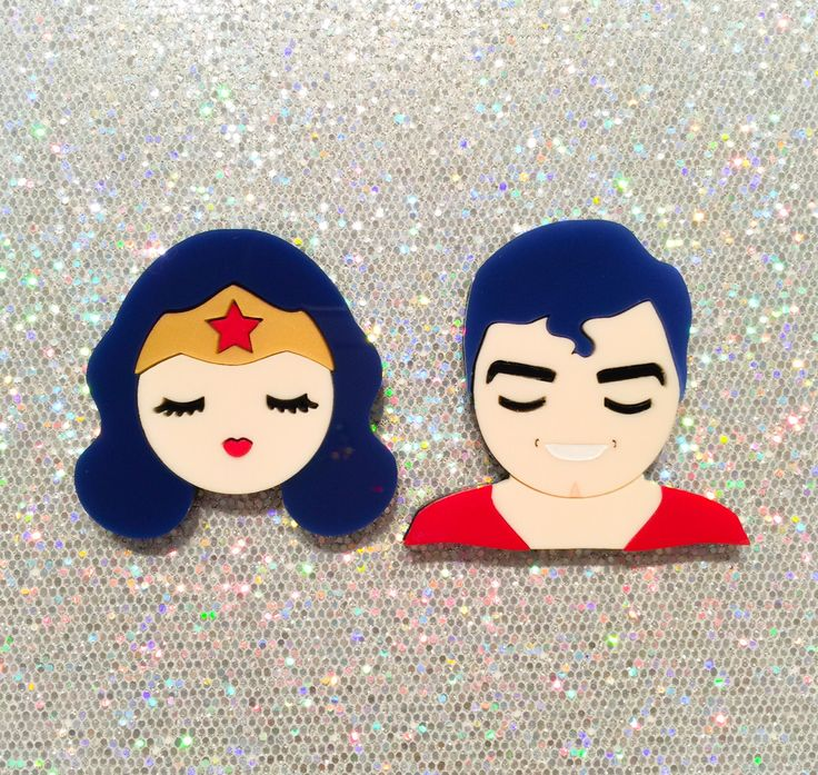 FW15 Costume Party - I Need A Hero - layered acrylic brooches (Valley of The Dolls series) (61.10 USD) by Baccurelli