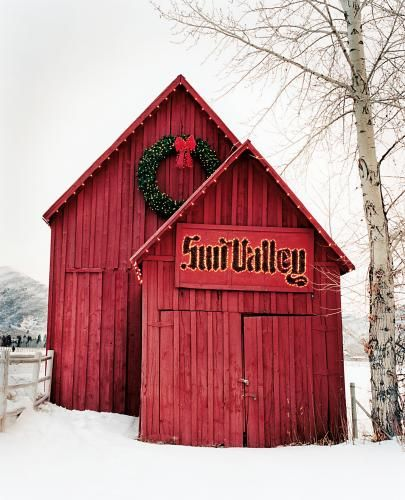 Red Barn in Sun Valley, ID...been there so pretty.....Sun Valley ski resort on beyond the town ...just breath taking......  Incredible skiing and beauty!!!! 12/26/12