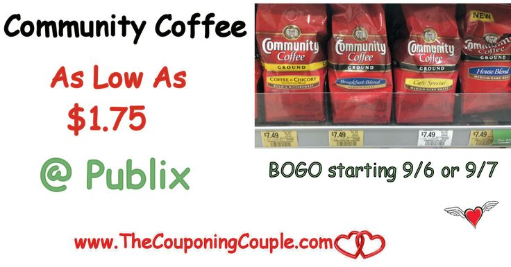 Community Coffee Stockup Price of Only $1.75 per Bag @ Publix. Print or clip your coupons now to be ready for this great upcoming  coffee deal!  Click the link below to get all of the details ► http://www.thecouponingcouple.com/community-coffee-stockup-price-of-only-1-75-per-bag-publix/ #Coupons #Couponing #CouponCommunity  Visit us at http://www.thecouponingcouple.com for more great posts!