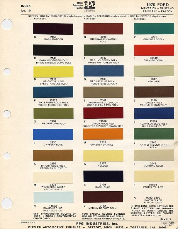 Pin By Jarl Martinson On Mustang Paint Charts Car Paint Colors