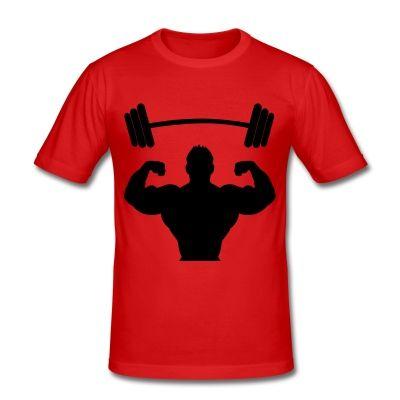 Camiseta especial chicos que practican la musculación; es ajustada y de corte deportivo se amolda muy bien a la forma del cuerpo, además de proporcionar una comodidad y libertad de movimiento inigualables: - Corte ajustado - Mangas cortas y ceñidas - Material elástico y de malla fina 160g/m² - Material: 100% algodón  #mycshop #mycshopspreadshirt #pesas #musculacion #gym #gimansio #fitness #musculos, entreno #training #biceps #fuerza #culturismo #camisetagym #shirtgym
