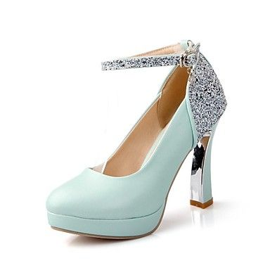 Women's Shoes Round Toe Platform Chunky Heel Sparkling Glitter Pumps Shoes More Colors available – USD $ 37.99