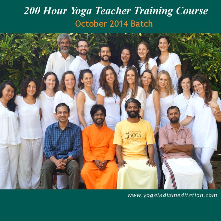 200 Hour Yoga Teacher Training course- October 2014 Batch students with teachers. Teachers sitting from left: Dr Nishanth Gopinath, Swami Yogeshananda Saraswati, Bhooma Chaitanya, P.S Parameshwaran Students, please tag yourself. Visit Yoga India Meditation website:- http://goo.gl/8WYjQq #yoga #yogaretreats #200HourYogaTTC #YogaIndia