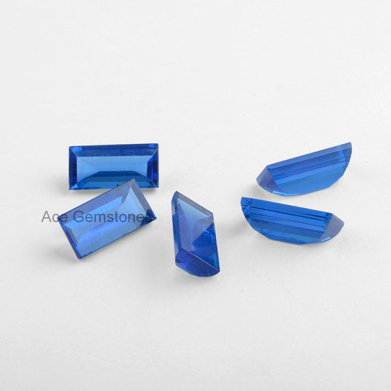 Flat Buff Top Blue Sapphire Quartz Loose Gemstone, Buff Top Gemstone, Wholesale Gemstone, Faceted Gemstone - 5Pcs °º♥º° *******************º♥º°******************°º♥º°*****************°º♥º° Please note that there will be slight changes in all stones in shade and texture in the actual product that you receive. Stone quality or grade will be same. These are Quartz stones which are simulated stones created in a Lab in different colours and shades.  Item Description:- Item Code: RB-10344 Stone…