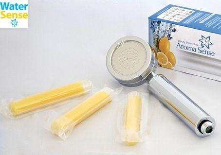 TV Offer  - Aroma Sense Shower head  3 Vitamin C Gel Cartridges