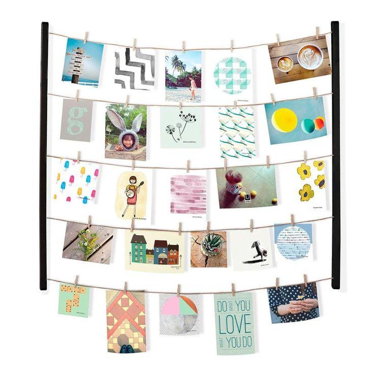 Display Hangit Negro, perfecto para decorar tu habitación con fotos o postales