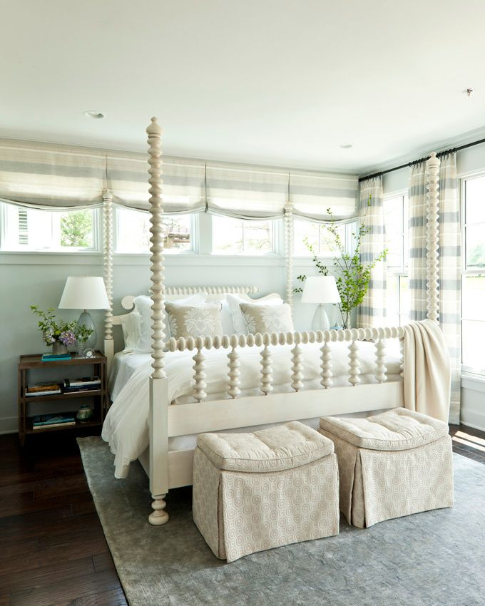 serene blue & white bedroom (southern living idea house)