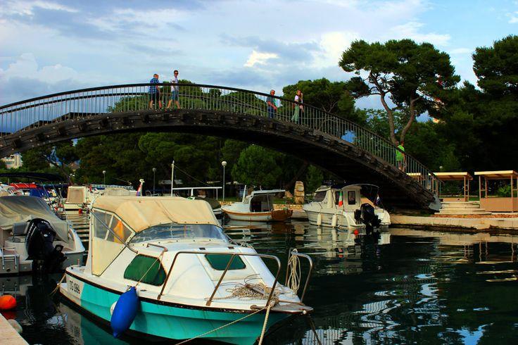 Trogir, Croatia. Bridge to old town.