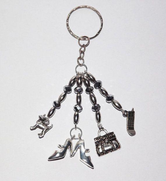 B.Long Chi-WOW-hua Charm Keyring - Free UK P&P - Dog / Animal / Love /  Dog-Lover / Purse / Keychain / Chihuahua / Rich / Perfect Gift