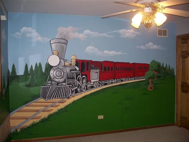 Lovely Full Scale Train Mural Part 16