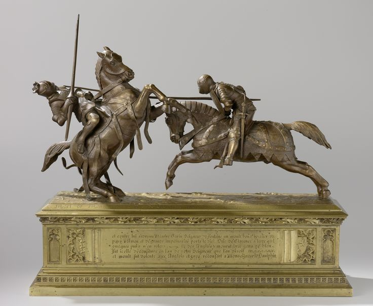 Two Fighting Knights, Known as 'Mort de Monseigneur le Duc de Clarence' by Alfred Emile O'Hara deNieuwerkerke, 1838. Rijksmuseum, Public Domain