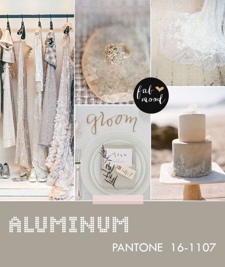 Aluminum wedding color -- Pantone fall 2014 wedding colors