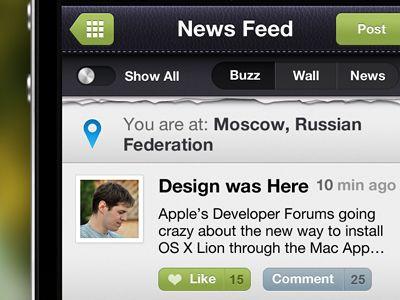 Social App In Progress by Egor Kosten
