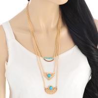 Hollow Out Heart Shape Multilayer  Gold Color. Dapatkan Aksesoris Wanita Kalung Import dengan harga grosir di http://www.tokofobia.com