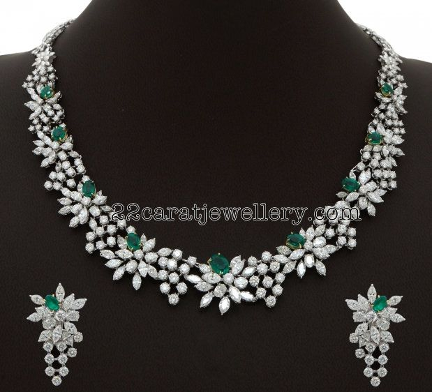 Very Unique Diamond Choker - Jewellery Designs