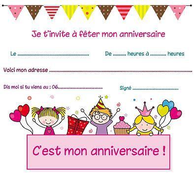 Imprimer gratuitement carte anniversaire; www.spectaclesdesenfants.com