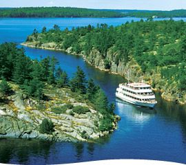Island Queen Cruise, departing Parry Sound Harbour twice daily in July and August, and once daily in June, September and October.