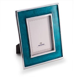 Fairtrade Recycled Aluminium Photo Frame Turquoise £15.00