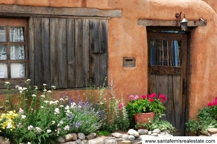 Adobe: Dreams Home, Rustic Charm, Favorite Places, Front Doors, Small Home, Rustic Wood, New Mexico, Wood Doors, Santa Fe Style