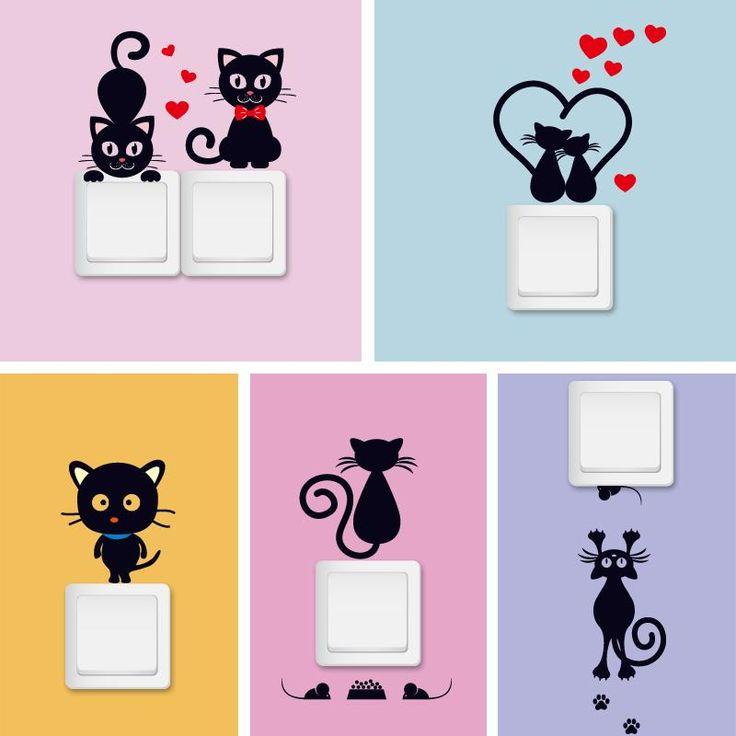 Beautiful Genervt von langweiligen Schaltern ndere es mit diesen wundervollen Motiven f r Katzen Liebhaber