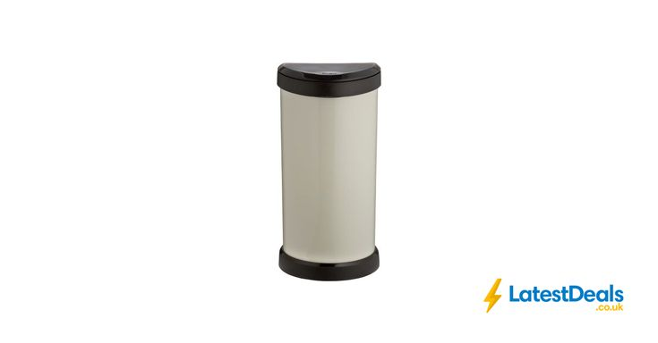 Curver 40 Litre Deco Touch Top Kitchen Bin Cream from Argos/ebay, £19.99