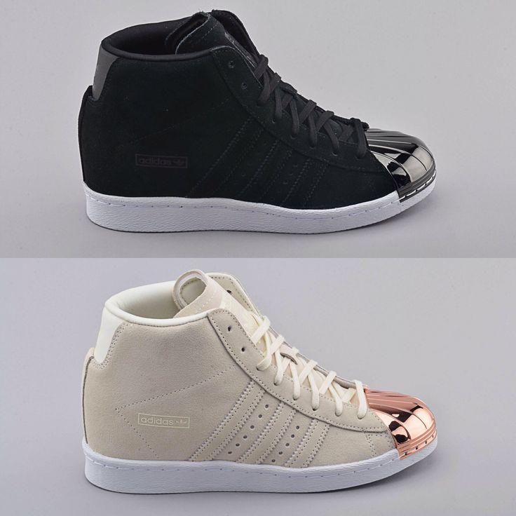 New Adidas Superstar Hi metal toe