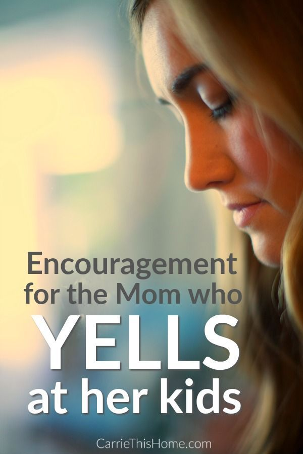 So helpful and encouraging! This is a must read for moms who struggle not to yell at their kids. from CarrieThisHome.com