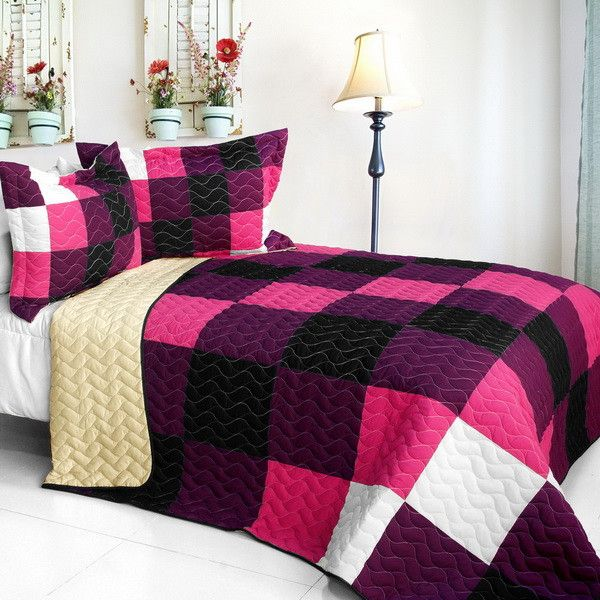 [Series] Brand New Vermicelli-Quilted Patchwork Quilt Set Full/Queen