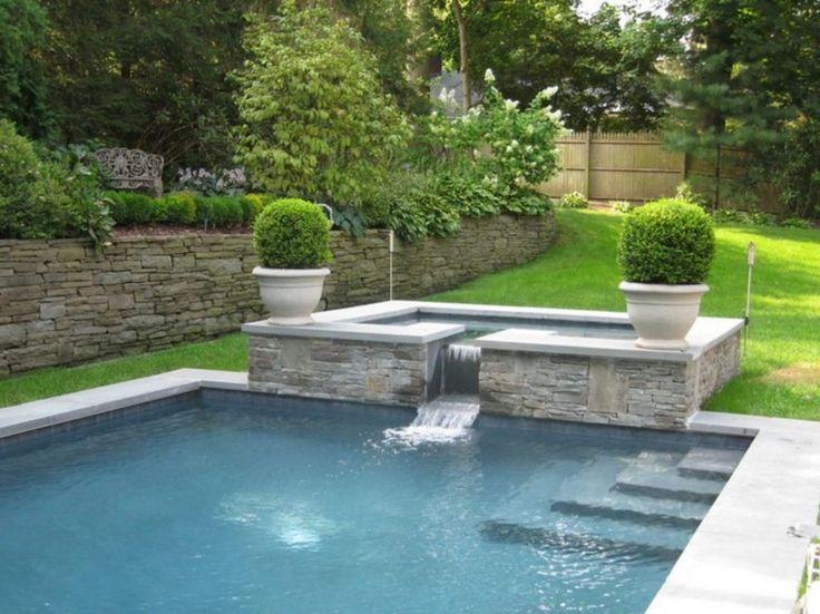 Highest 20 Modern Farmhouse Pool Fountains Ideas For You backyard Pool Renovation