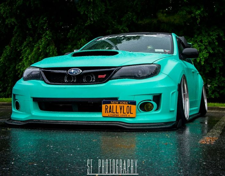 Awesome Color And License Plate! Subie.