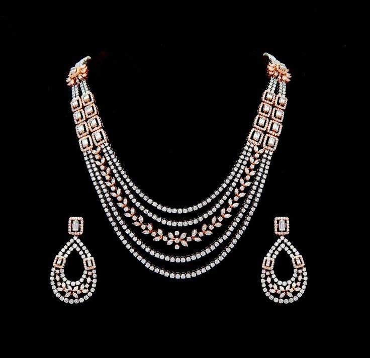 Diamond Necklaces / Chokers - Diamond Jewelry Diamond Necklaces / Chokers (NK0303ER2345) at USD 23,409.21 And GBP 17,543.63