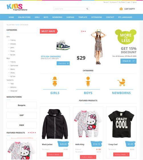 JM-Kids-Fashion-Store, Online Store