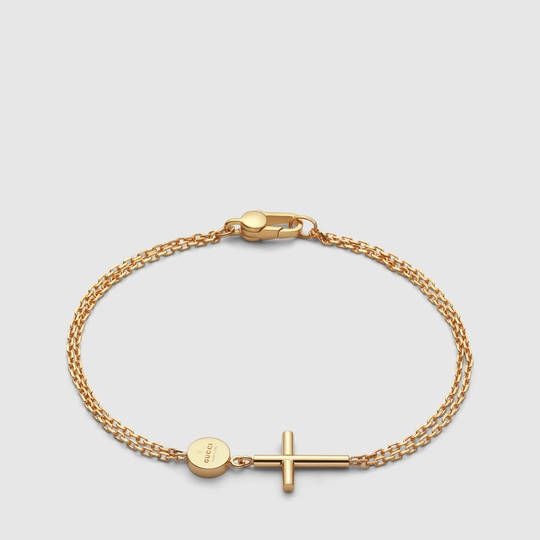 Gucci Bracelet with cross and Gucci tag