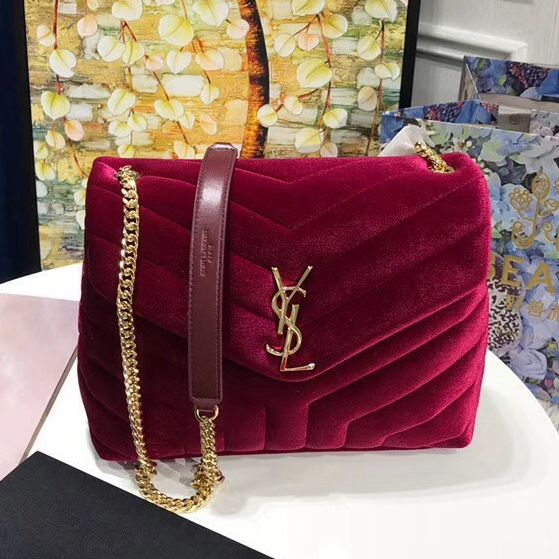 d8f306f0e86d Saint Laurent Small Loulou Chain Bag in