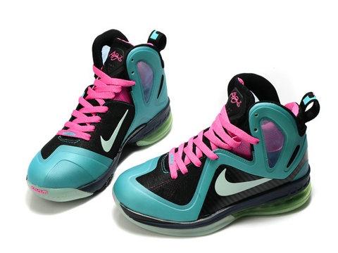 Nike LeBron 9 PS Elite South Beach Black MediumTurquoise,Style  code:516958-003