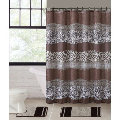 World Menagerie Dudelange 3 Piece Shower Curtain Set
