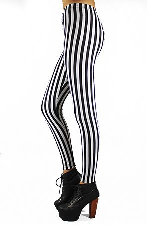 Circus Stripe Leggings by Forever Strung Don't check out without an extra discount! Use rep code hellospider.