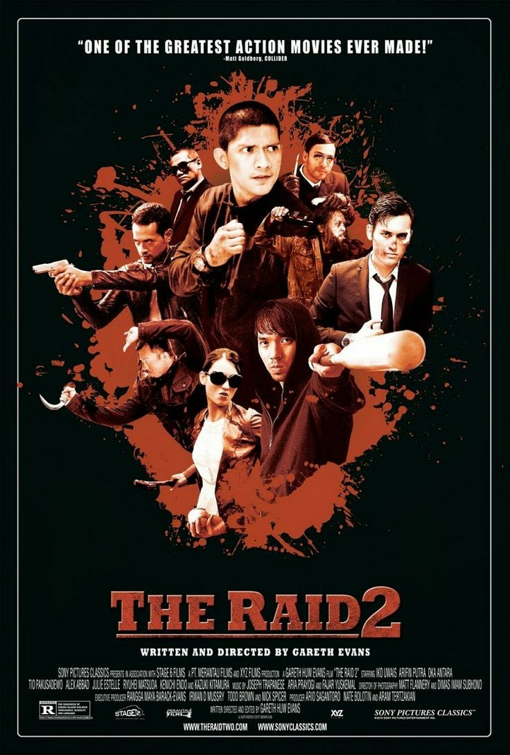The Raid 2: Berandal is an Indonesian action film director is Gareth Evans, it is the follow up to the 2012 hit The Raid: Redemption and was announced in 2011. The film was released on March 28, 2014.Iko Uwais reprises his role as Rama. The film also cast Alex Abbad, Julie Estelle, Tio Pakusadewo, Arifin Putra, Oka Antara, and Cecep A. Rahman. Japanese actors Ryuhei Matsuda, Kenichi Endo and Kazuki Kitamura also appear.