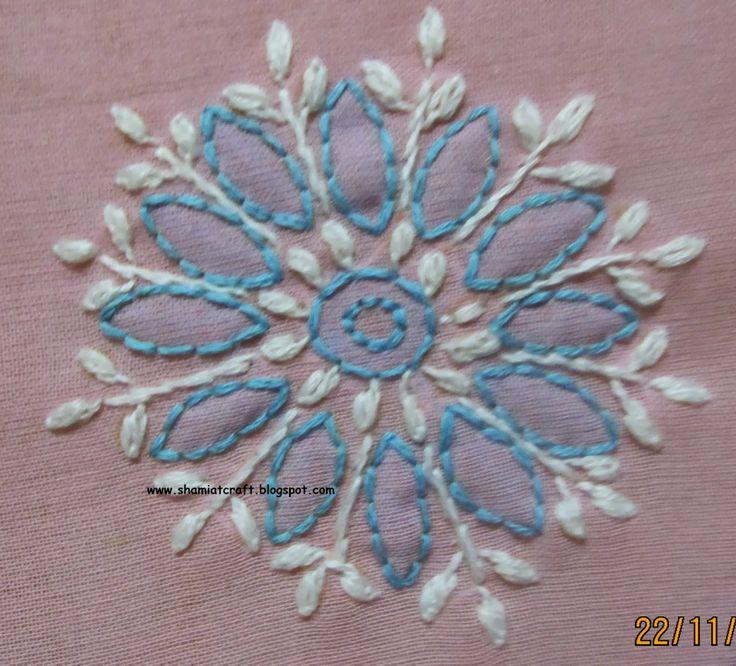 Hand embroidery stitches chikankari makaroka
