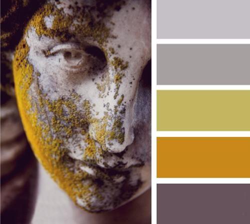 moderni colori interni, schemi di colore arancione