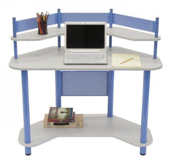 Study Corner Desk (Blue) (42.25H x 46.00W x 23.50D)