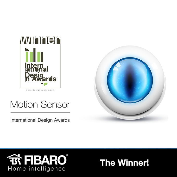 Motion Sensor - winner in the 8th Annual International Design Awards. #smarthome #homeautomation
