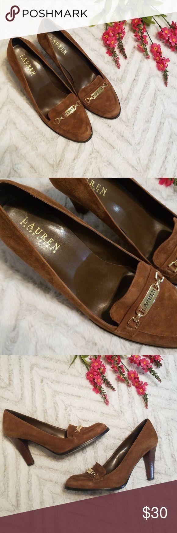 Lauren Ralph Lauren Suede Heeled Loafers