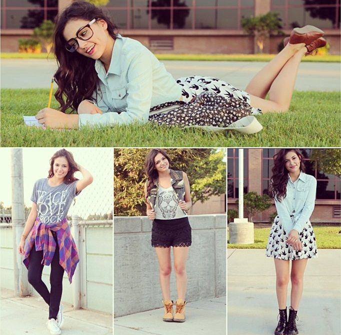 Outfit ideas for the first week back to school! which outfit is ...