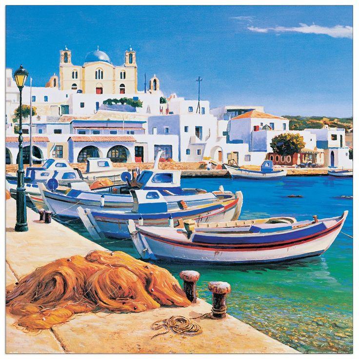 Galasso - Porticciolo mediterraneo 40x40 cm #artprints #interior #design #art #prints  Scopri Descrizione e Prezzo http://www.artopweb.com/categorie/panorami-e-citta/EC22038